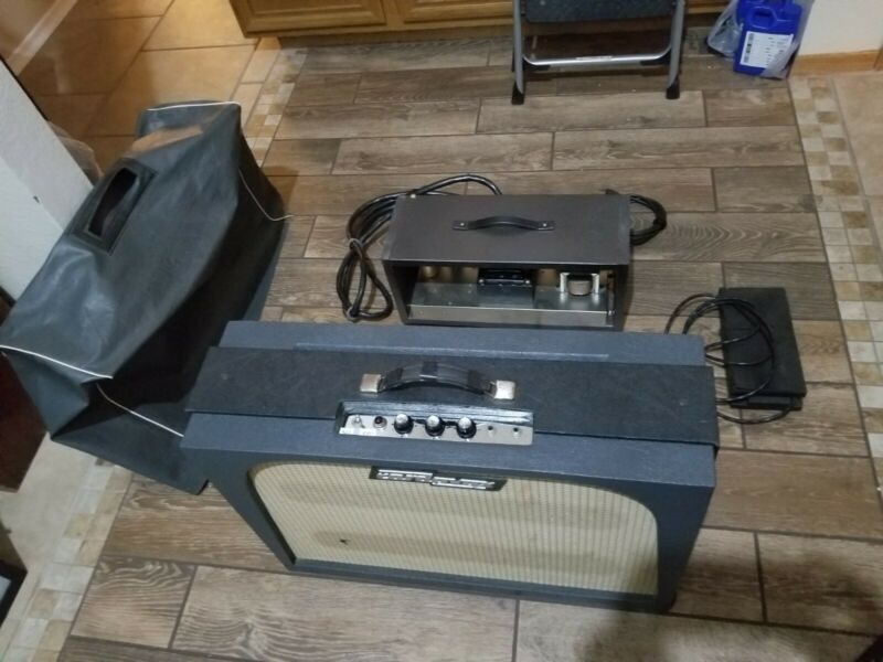 Vintage Cordovox Tone Generator and CMI Gibson Tube Amp with Cables