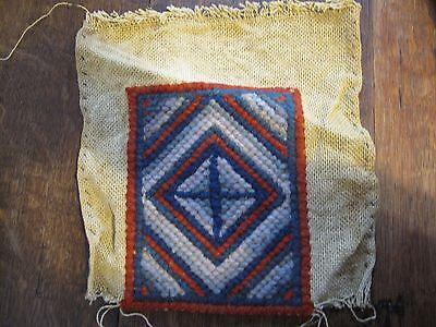 Vintage Wool Work Tapestry Sampler piece. 19313