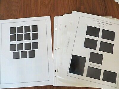 Scott National Album Pages, Used, 1981 to 2004, no back of book pages