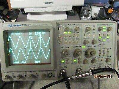 Tektronix 2465a 350mhz4 Channel Oscilloscope In Fine Condition 2