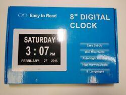 8 Easy Set-Up Digital Clock, 8 Languages and 8 Alarms, Medication Remainder