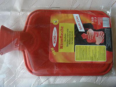 Wärmflasche für Erwachsene - Inhalt : 2 Liter