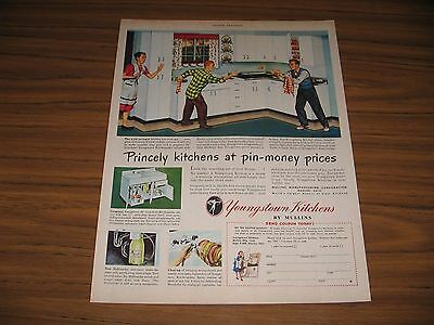 1948 Print Ad Youngstown Kitchens by Mullin 40's Family Warren,OH