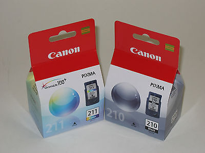 Canon Pg210 Cl211 Ink Pixma 210 211 Mp230 Mp280 Mp495 Mx3...