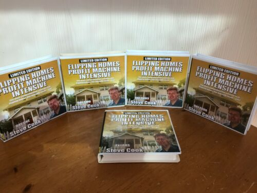5 DAY FLIPPING HOMES / UGLY HOUSE PROFIT MACHINE BY STEVE COOK ON HUGE 29 CD