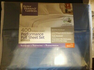 Better Homes & Gardens 400 Thread Count Solid Performance Full Sheet Set