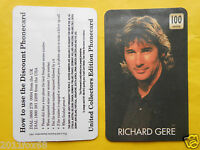 1998 Phone Cards 100 Units Richard Gere Schede Telefoniche 1998 Telefonkarten Gq -  - ebay.it
