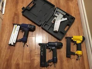 3 Air nailers and 1 case