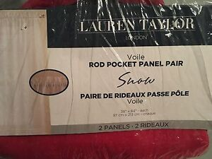 Two red panel curtains! Never opened! Brand new