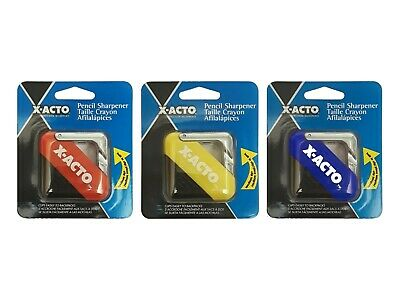X-acto Pencil Sharpener 2 Pack Blue Red And Yellow