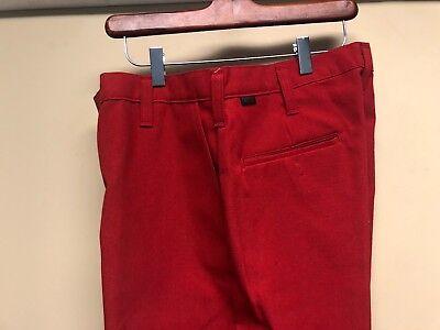 Workrite 433nx60rd Flame Resistant 6 Oz Nomex Iiia Red Work Pants 35x32