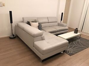 2 seater leather sofa with left side terminal from Plush Croydon Burwood Area Preview