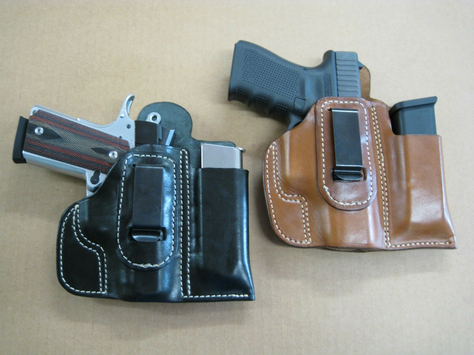 Azula Leather IWB Combo Holster / Mag Pouch CCW For  Choose Gun & Color - 2