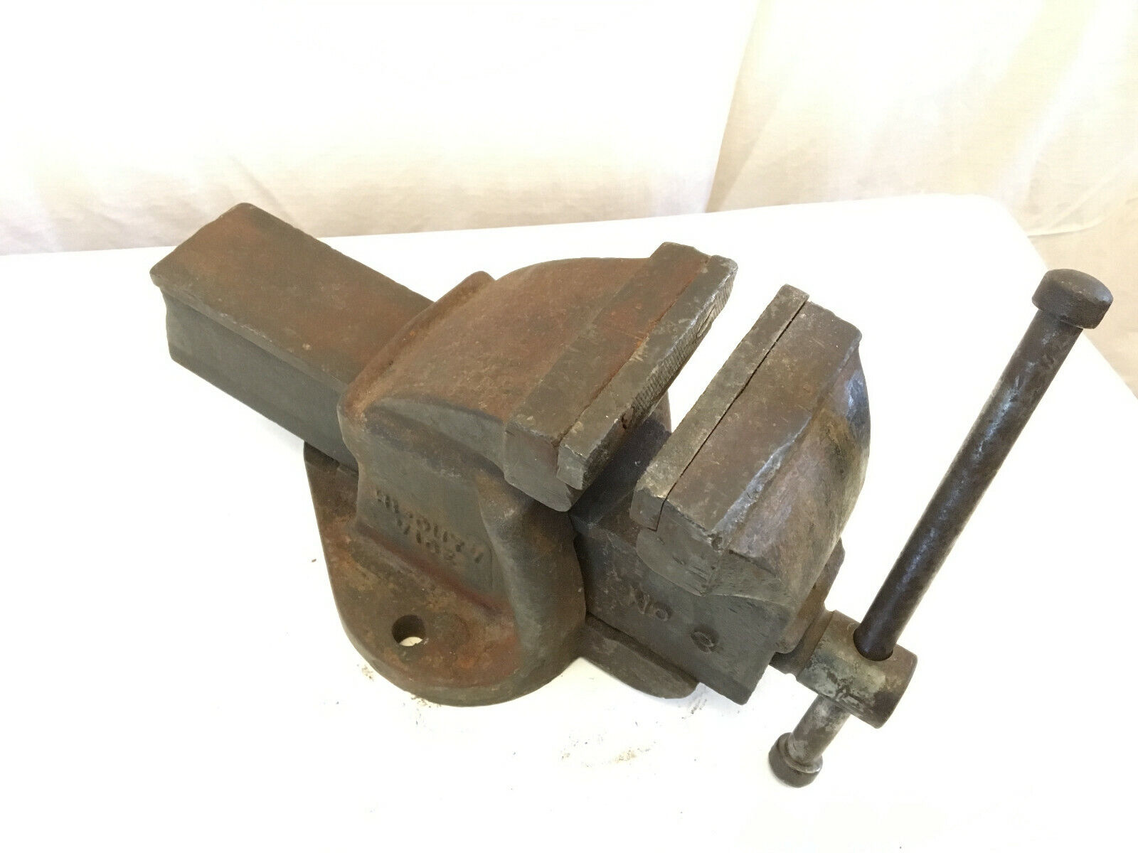 """vintage paramo hi-duty vice vise 4"""" jaws bench mount made in england"""