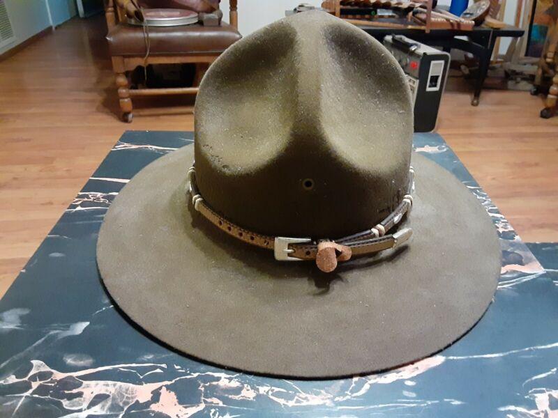 RARE Custume Made Vintage Boy Scouts Of America Hat Felt TROOP LEADER sz 7 1/8