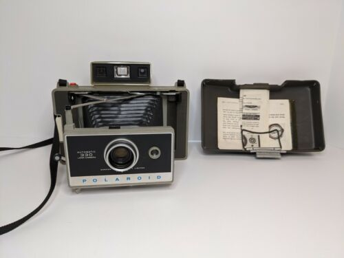 Vintage Polaroid Automatic 330 Land Camera With Cold Temp Plate and Instructions