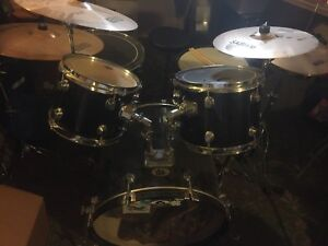 9-piece Complete Drum Kit For Sale