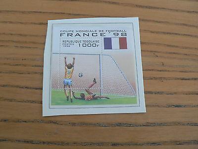 Togo Mint Sheet, Football World Cup France 1998l, MNH
