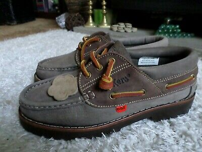 Casual Nubuck leather KICKERS  Boat shoes - size 7 EU 41 - WORN ONCE
