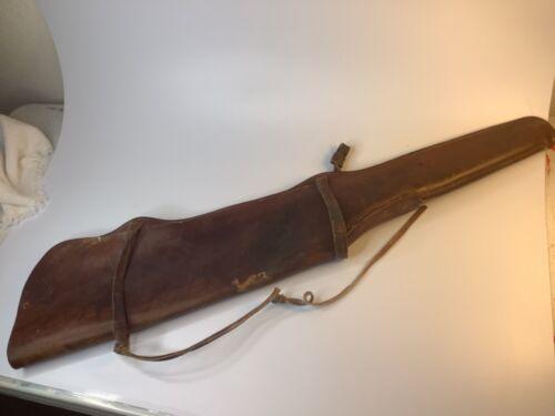 BUCHEIMER Rifle Gun Case Holder Cowhide Leather Western Distress Vintage cowboy