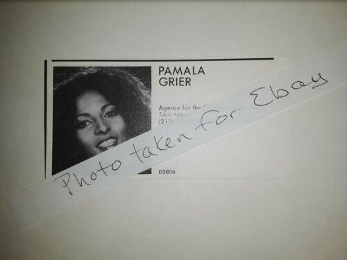 Pamala Grier Pamela Pam Grier Original 1980s actors casting ad