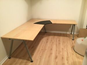 IKEA L-Shaped desk with two extensions
