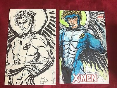 Angel X-Men Full Cover Original Sketch Cover Front and Back Kevin Eastman ()