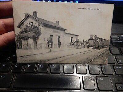 POSTCARD RAILWAY STATION   Bourgueil  INDRE    OLD   ORIGINAL  DAMAGE
