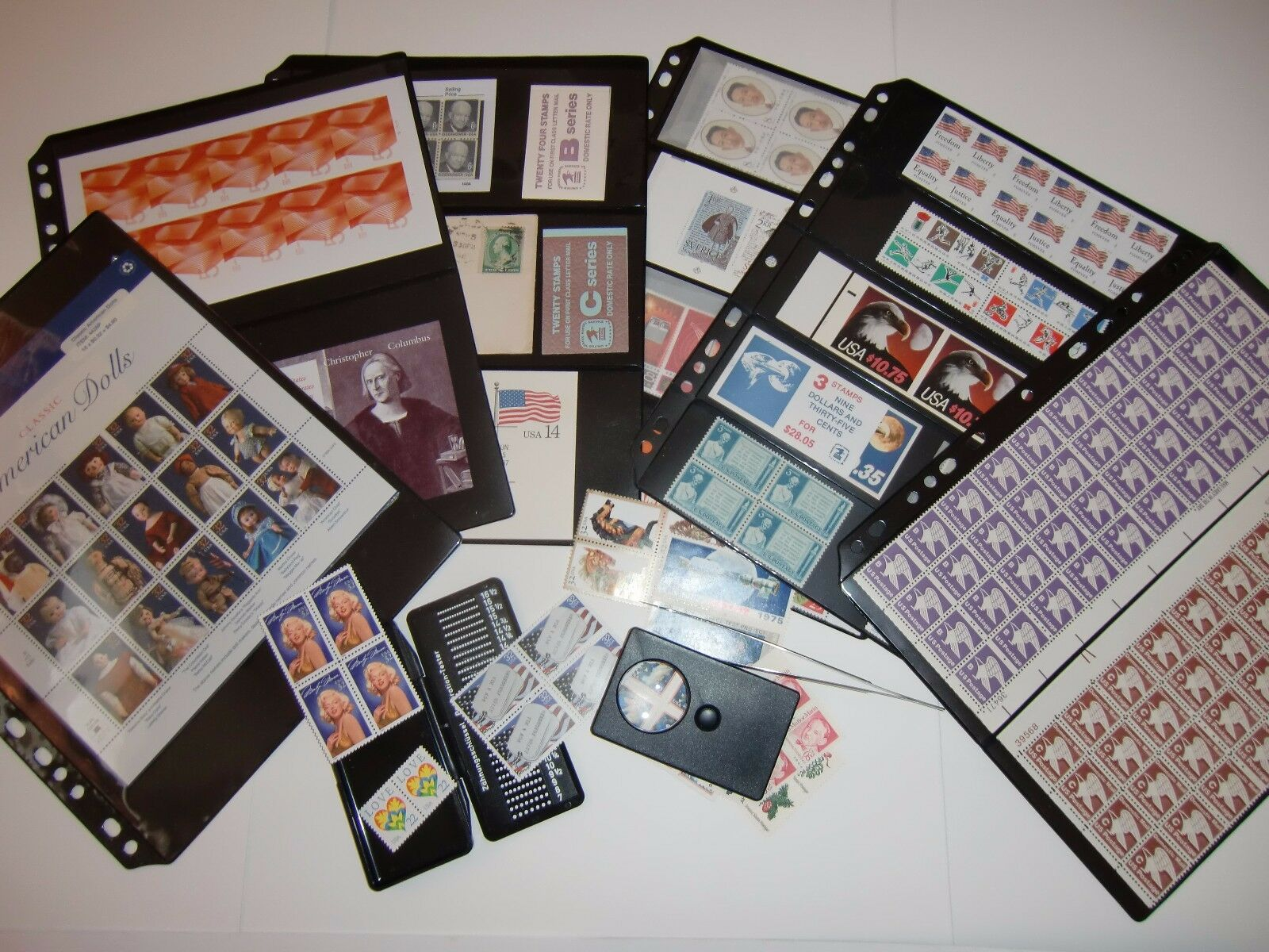 **ANCHOR New 10 Stock Pages 7S (7- rows) Sheets - (Black sheets)- Double sided.