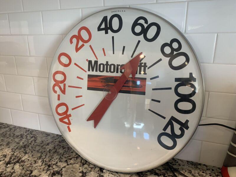 "Vintage Motorcraft 18"" Thermometer"