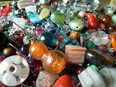 200g Mixed Lots Beads for Jewellery Making 4mm - 15mm 100s Glass & Acrylic