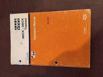 Case 580ck 480 580 Tractor Backhoe Loader Operators Manual