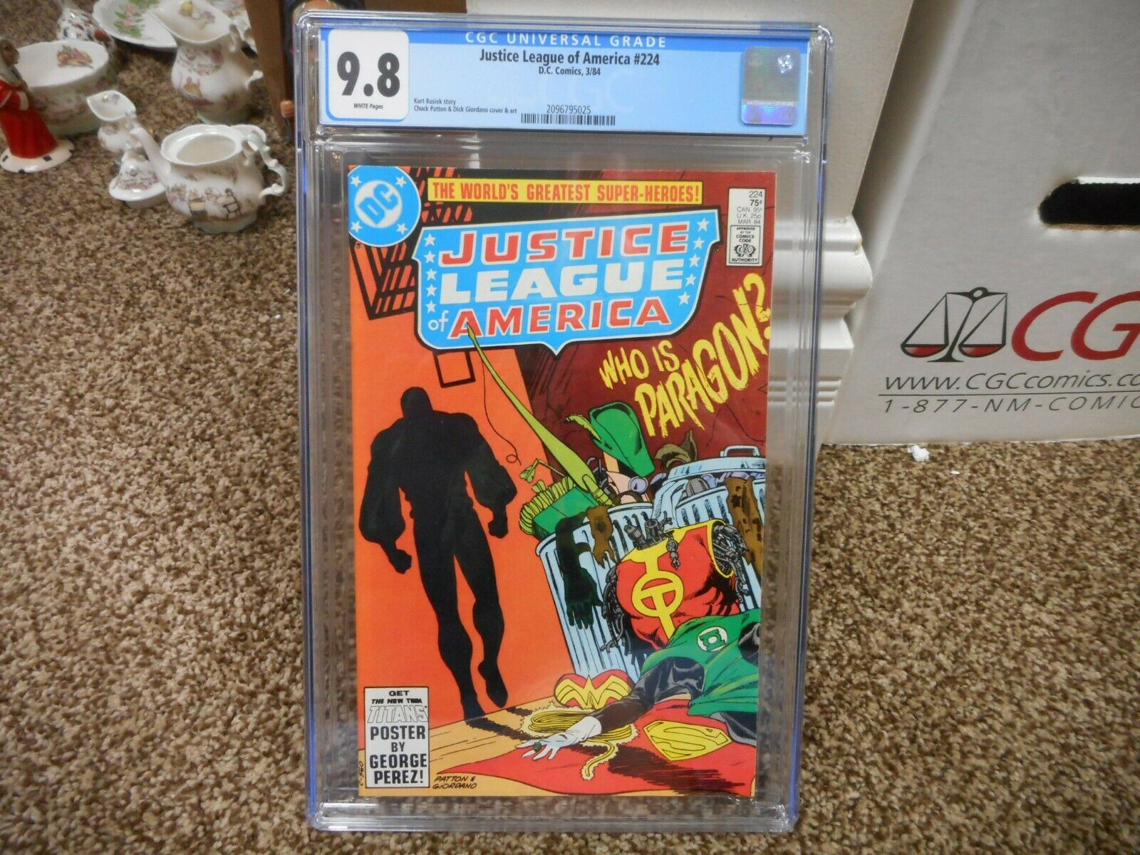 Justice League of America 224 cgc 9.8 DC 1984 1st appearance Paragon WHITE pgs