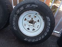 Landcruiser Bridgestone dueler A/T 4WD tyres and rims LT265/75R16 Newcastle Newcastle Area Preview