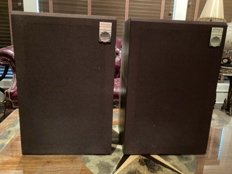 Vintage audio speakers, Mirage SM-5, original packaging, pair