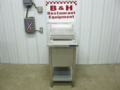 18 X 34 Stainless Steel Insulated Sliding Top Smoothie Bar Ice Well Bin Cart