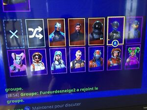 Compte Fortnite a couter 85$
