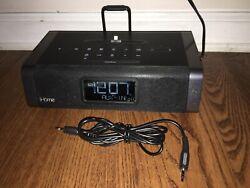 iHome Model iDL45 Black Dual Charging Stereo FM Alarm Clock Radio w/USB & Dock