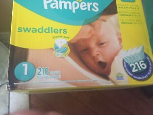 Pampers swaddlers size 1 - 216 diapers
