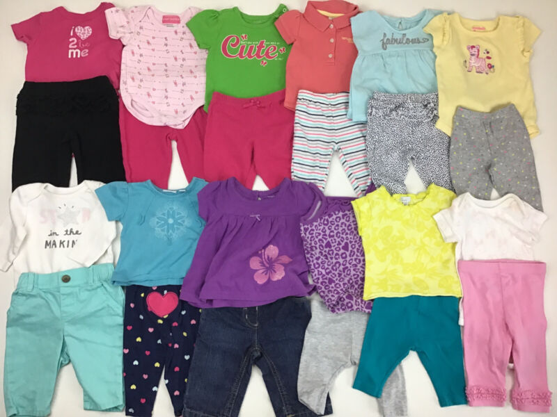 Lot Of Baby Girls Summer Clothes, Size 0-3 Months.