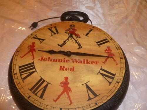 Rear Vintage Advertisement Johnnie Walker Red Label Whisky Clock  1970