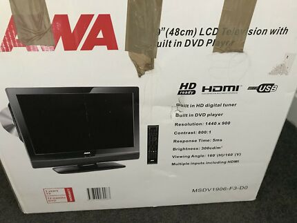 AWA 19'' (48 cm) LCD television with built in DVD