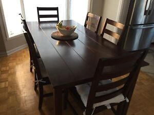 Table cuisine mobilier chaises 250$ Nego