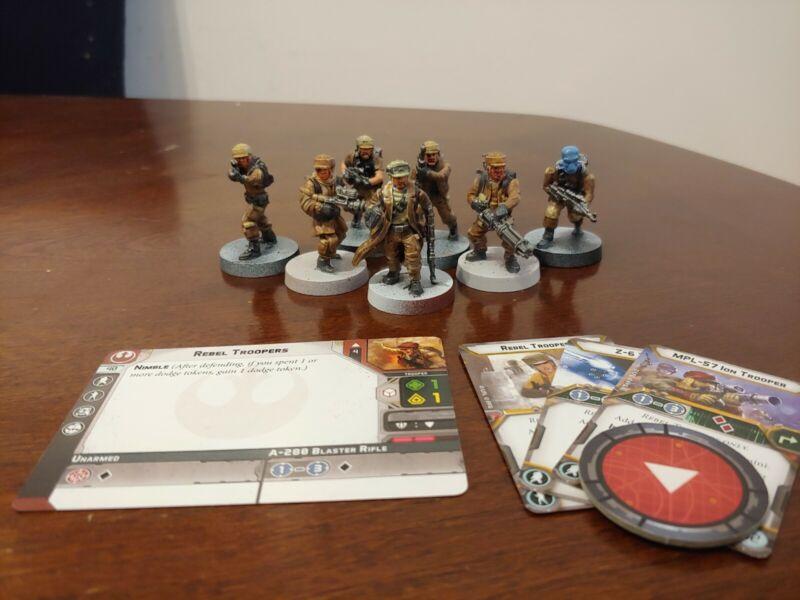 Star Wars Legion Painted Rebel Troopers