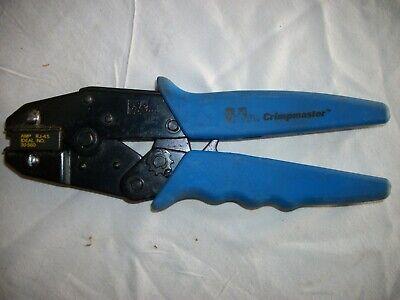 Ideal Crimpmaster Ratchet Crimp Tool 30-560 Blue Handle