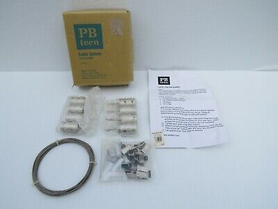 Pottery Barn Teen Cable System  Posts, Clips 20' of Wire NEW dorm decor office