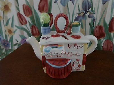 Teapot DRESSING TABLE LADY'S Design Ceramic Decorative Very Sweet!