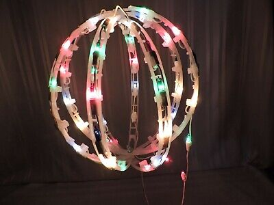 Vintage LARGE ornament with lights Outside Window Christmas decoration NICE