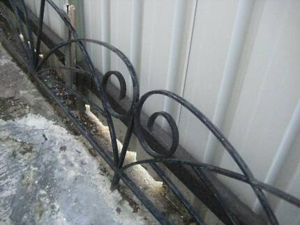 vintage retro metal verandah railing decorative