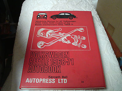 car manual, autopress, volkswagen beetle 1968 to 1971, good condition